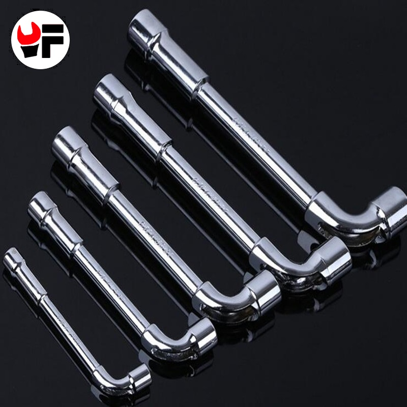 Free shipping 5pcs 8-12mm L Style Angled Socket Wrench Universal Keys Hand Tool Pipe Hex Key Wrench for Car Repair Tool Kit цена