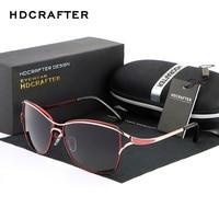 HDCRAFTER New Europe Driving Sun Glasses Polarized Sunglasses Women UV400 Fashion Eyewear