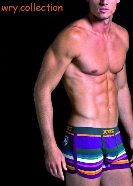 1 peça de algodão homens roupa interior dos homens boxers broadside boxer calzoncillos dos desenhos animados imprimir roupa interior dos homens sexy U convex boxer