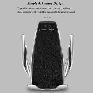 Image 2 - Inteligentny czujnik S5 uchwyt samochodowy Auto zacisk bezprzewodowa ładowarka dla iphoneX XS XR Samsung Note9 S10 S9 Qi 10W szybka ładowarka