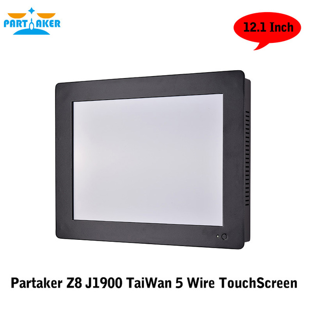 12.1 Inch Tai Wan 5 Wire Intel Bay Trail Celeron J1900 Quad Core Touch Screen Rack Mount PC with 2G RAM 64G SSD