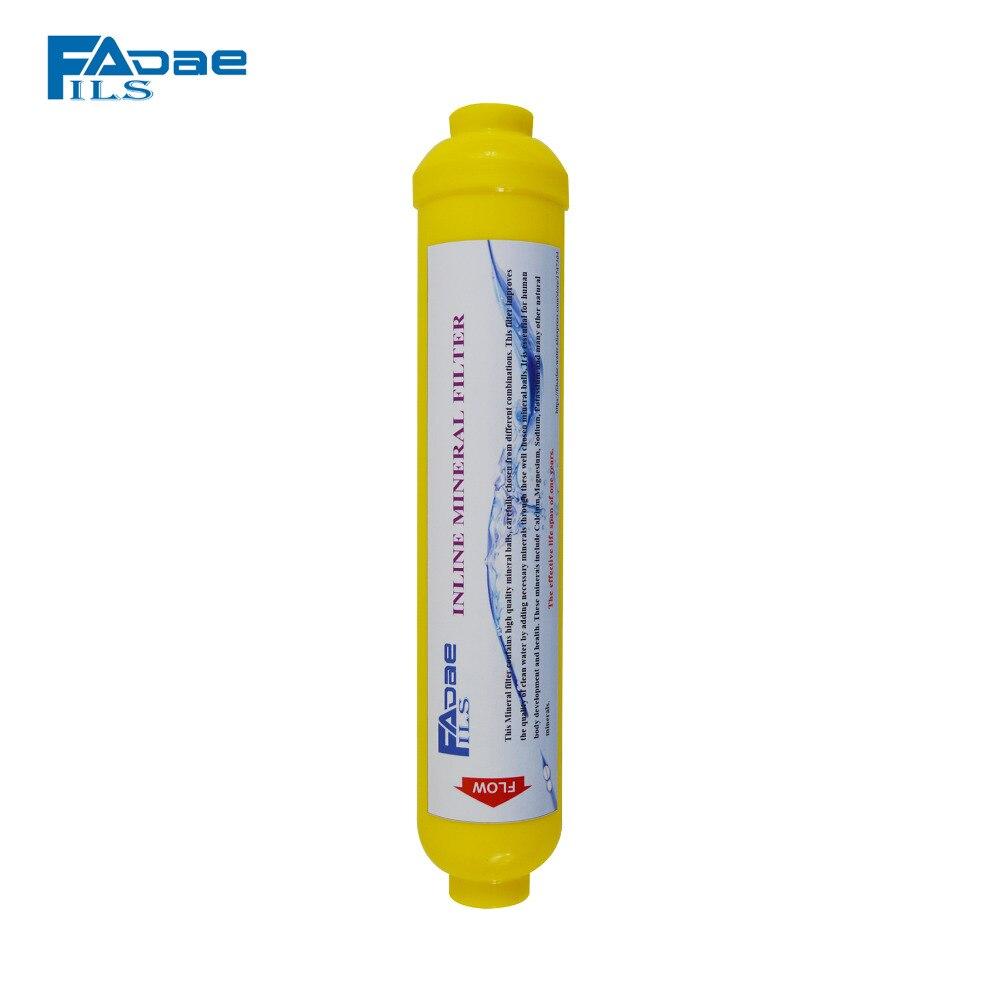 Système D'osmose inverse Replacment filtres Inline Reminéralisation Minérale Filtres À Eau, 2 OD x 10 L, 1/4 filetage Femelle