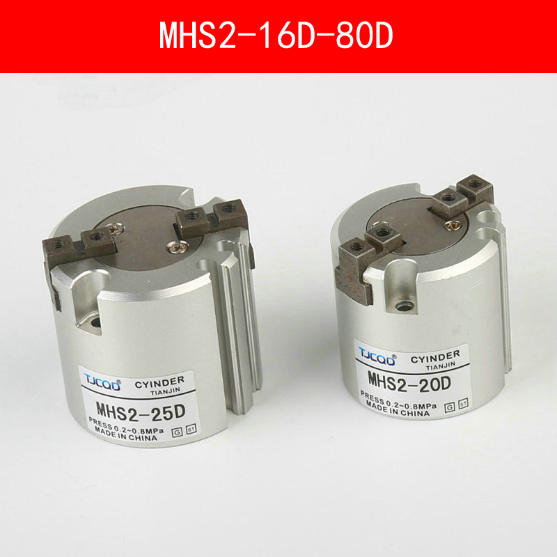 MHS2 16D 20D 25D 32D 40D 50D 63D 80D Parallel Style Air Gripper 2 Finger SMC Type Rotating Double Act Jaw Cylinder Bore 16-80mmMHS2 16D 20D 25D 32D 40D 50D 63D 80D Parallel Style Air Gripper 2 Finger SMC Type Rotating Double Act Jaw Cylinder Bore 16-80mm