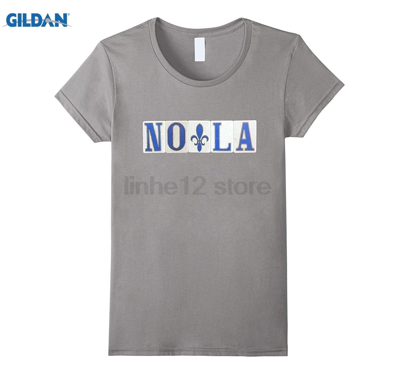 GILDAN New Orleans NOLA Street Tile Tee Shirt Womens T-shirt