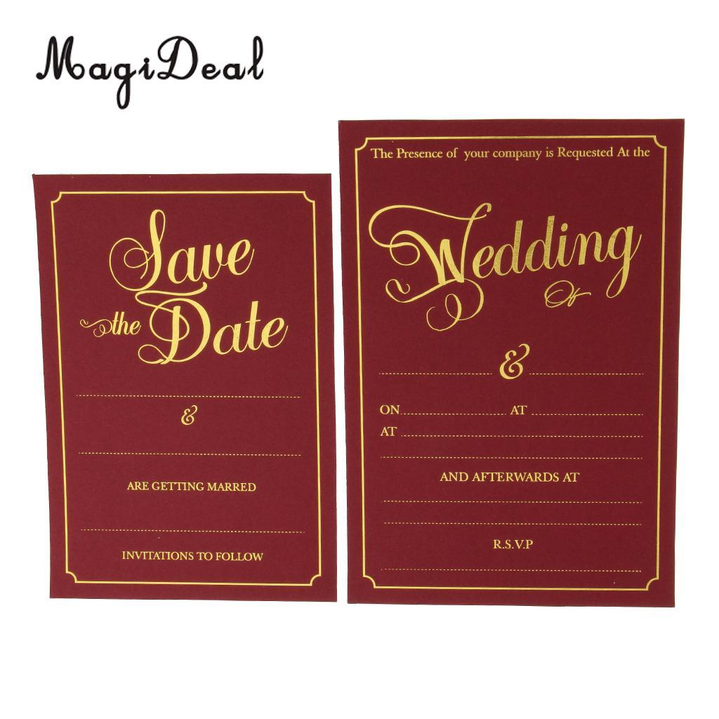 2pcs Set Wedding Day Evening Invitation Cards Wedding Reception ...