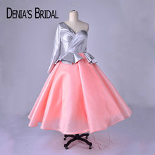 DENIA'S BRIDAL One Shoulder Puffy Prom Dresses 2018 Real