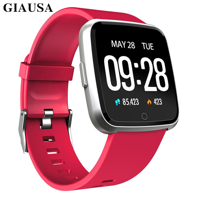GIAUSA Smart watch IP67 Waterproof Fitness Tracker Heart Rate Monitor Blood Pressure Women men Clock Smartwatch For Android IOSGIAUSA Smart watch IP67 Waterproof Fitness Tracker Heart Rate Monitor Blood Pressure Women men Clock Smartwatch For Android IOS