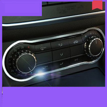 Aleación de aluminio Aire Acondicionado Panel de Moldura Para Mercedes Benz CLA GLA 200 220 B200 A180 Accesorios Car Styling