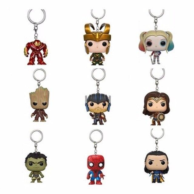 Vingadores 4 Infinito Guerra Visão Thanos maravilha Hulk Homem de Ferro Homem Aranha Capitão América Thor Loki Figuras Chaveiro Formiga Ano novo brinquedo