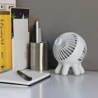 Mini Octopus Style 2 Colors Desktop Fan DC5V Rechargeable 1400mAh Battery Portable Summer Cooling Fan