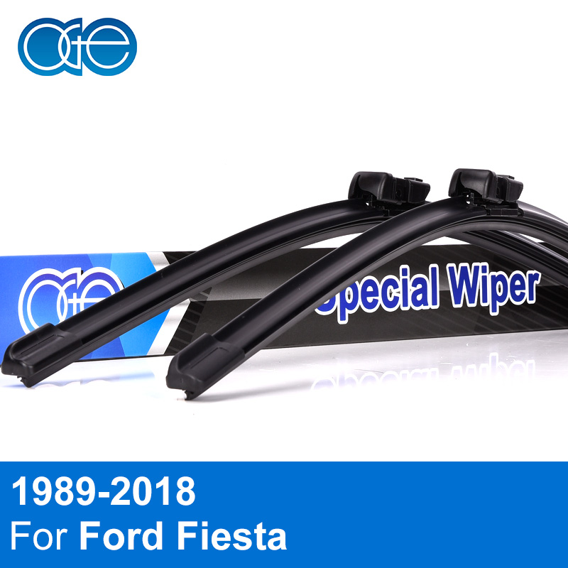 Oge Front And Rear Wiper Blades For Ford Fiesta 1989-2018 Windshield Windscreen Natural Rubber Car Auto Accessories oge windshield wiper blades for ford galaxy 1995 2001 28 28 r windscreen accessories