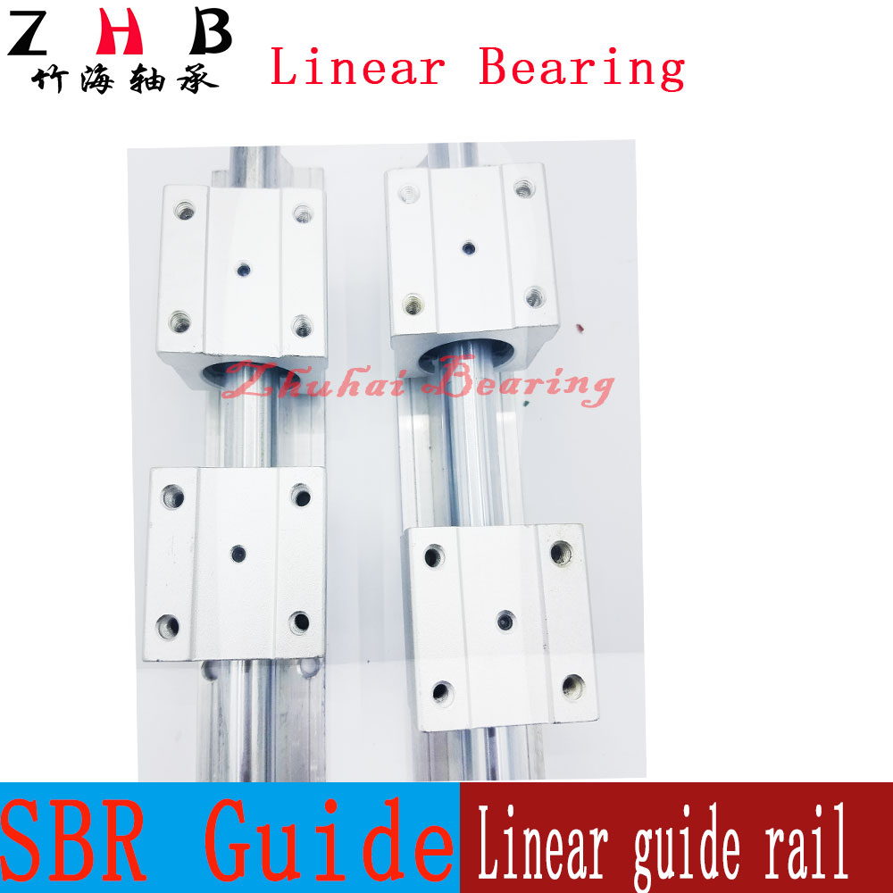 2 pcs SBR12 1000mm linear bearing supported rails+4 pcs SBR12UU bearing blocks for CNC художественная литература