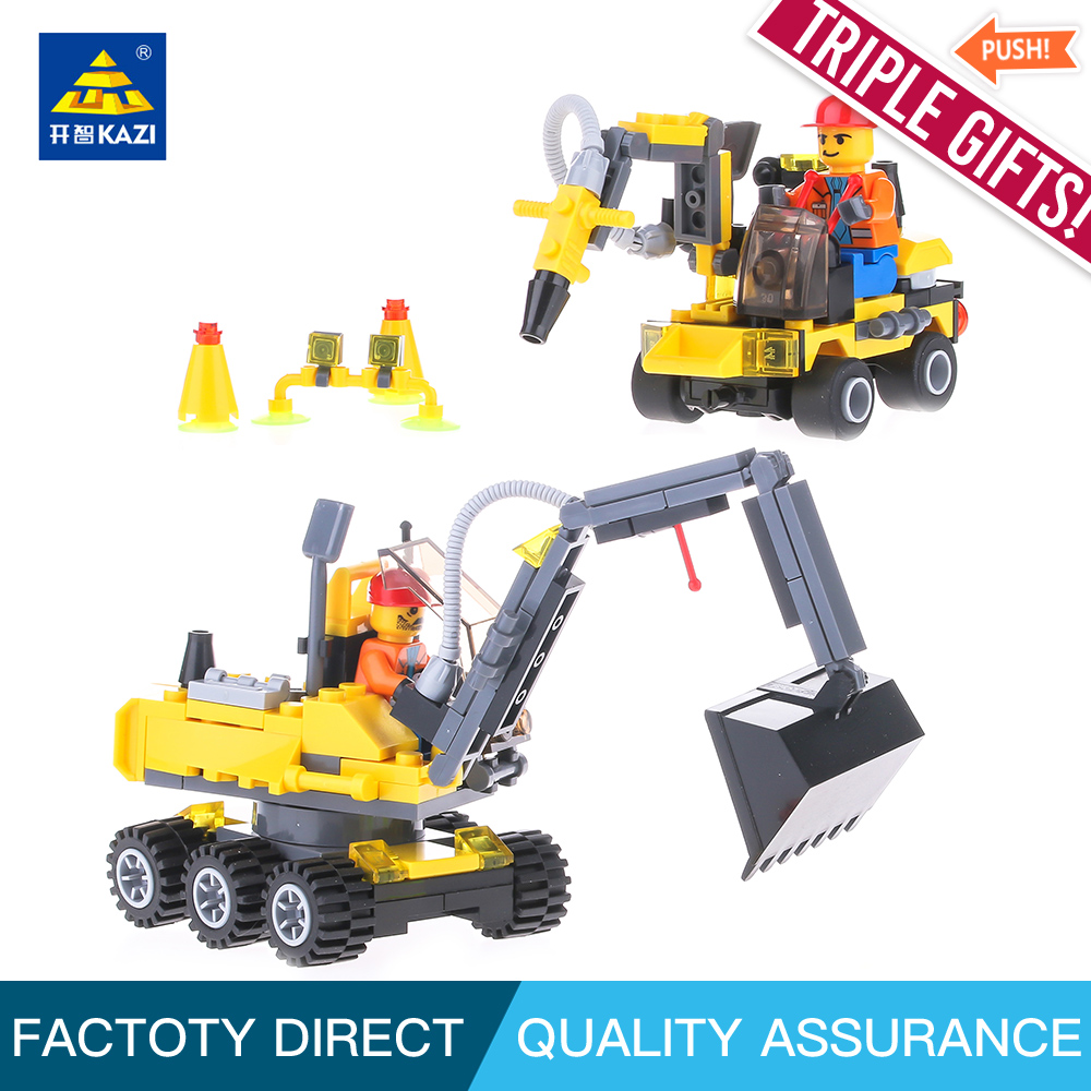KAZI 6092 City Construction Excavator Building Block Compatible all brand City Toys Classic Boys brinquedos Toy for children