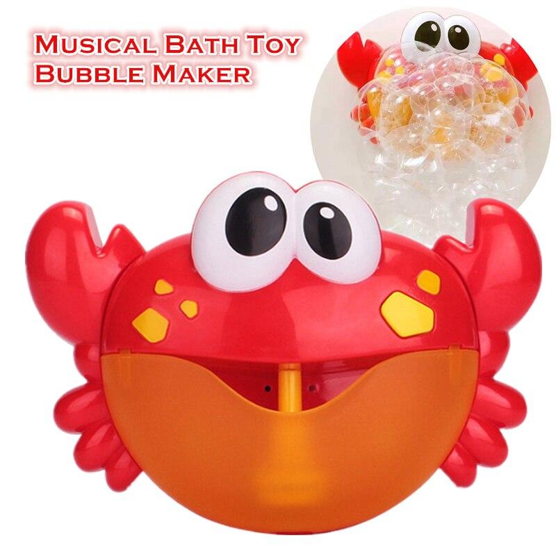 Bébé jouets bain bulle fabricant Machine baignoire musique bulle baignoire savon Machine souffleur bain jouets crabes pour enfants eau jouet oyuncak