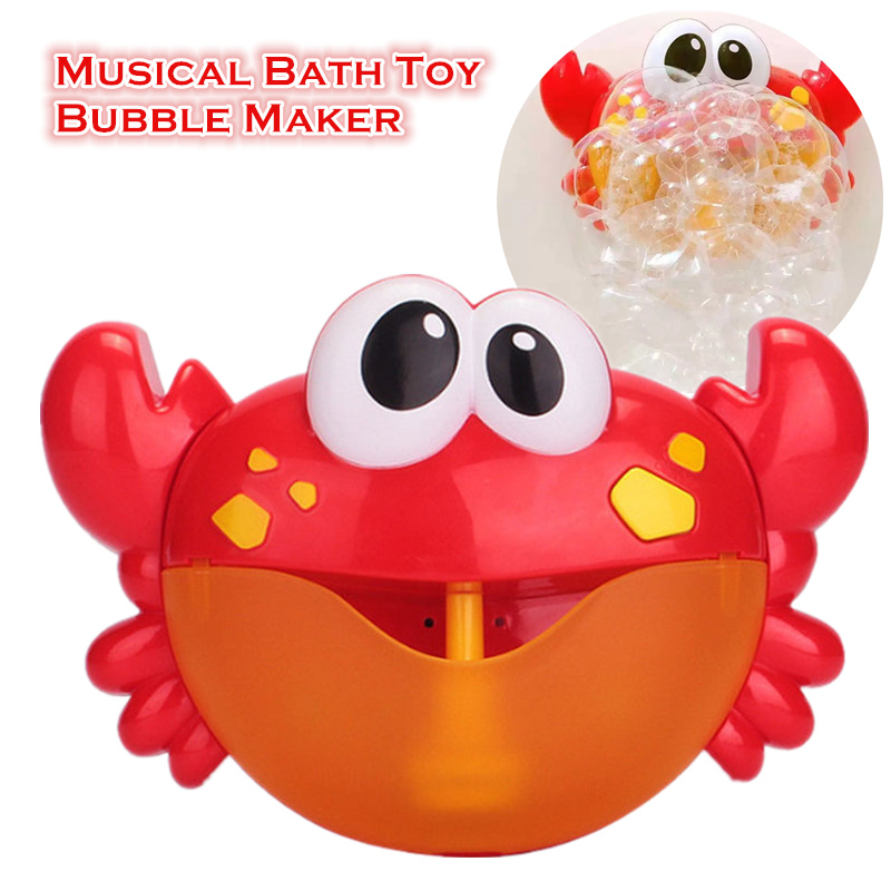 Baby Toys Bath Bubble Maker Machine Tub Music Bubble Bathtub Soap Machine Blower Bath Toys Crabs For Children Water Toy Oyuncak