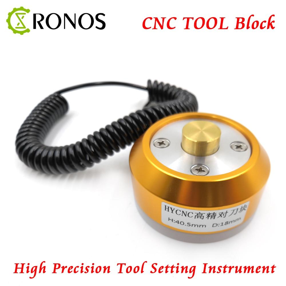 1pcs Engraving Machine Automatic Tool Setting Gauge Tool Collimator CNC Z Axis Router CNC Sensor Block, Tool Sensor