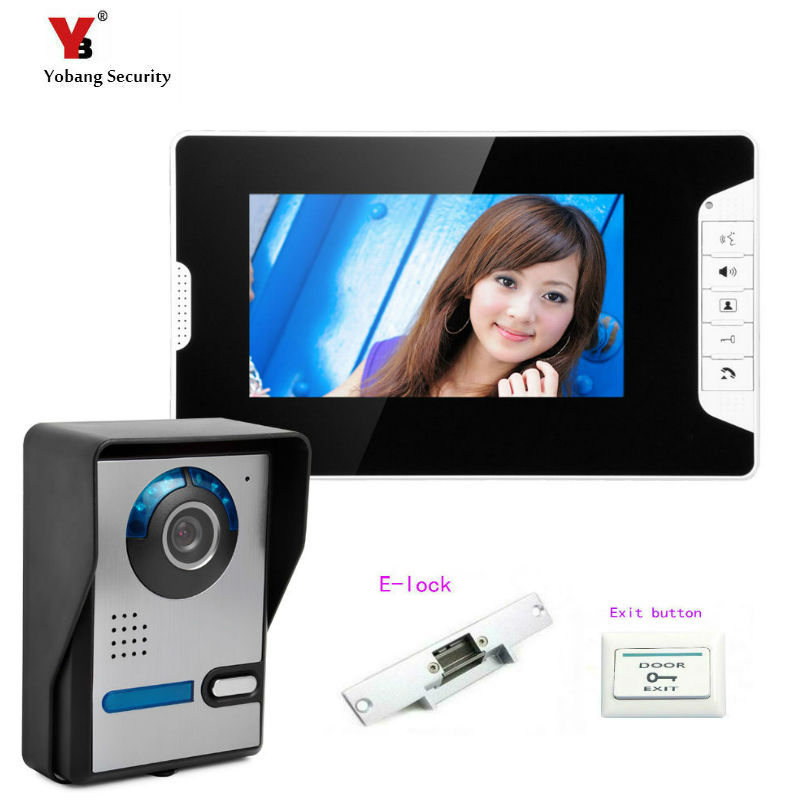 Yobang Security 7 LCD Video Door Phone Video Intercom Doorbell Home Security IR Camera Monitor With Night Vision camera yobang security 9 inch lcd home security video record door phone intercom system doorbell video monitor for apartment villa