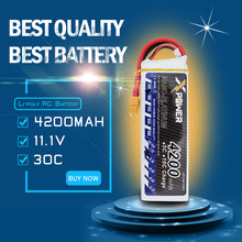 Lipo battery 11.1V 3s 4200mAh 30C max 35C XT60  or T plug 1pcs Xpower batteries for  RC Helicoptes  drone parts