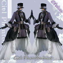 Black Butler Anime Cosplay Ciel Phantomhive Lily Ceremonial Dress Cospaly Costume Women Uniforms Costumes Hat+Dresses+Gloves vevefhuang black deacon black butler ciel phantomhive cosplay dress princess clothing costume with hat glove