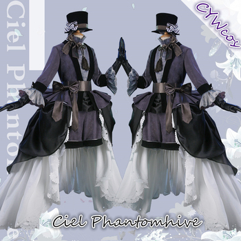 цена на Black Butler Anime Cosplay Ciel Phantomhive Lily Ceremonial Dress Cospaly Costume Women Uniforms Costumes Hat+Dresses+Gloves