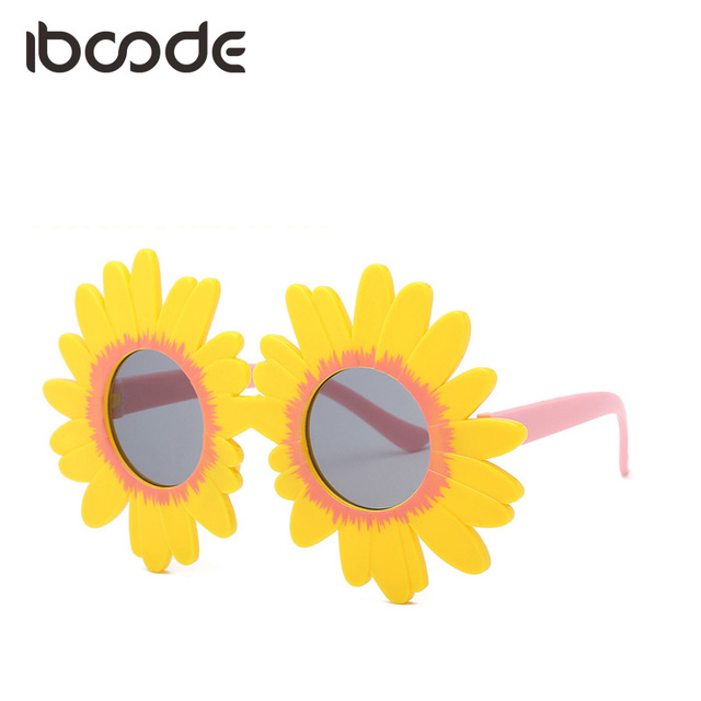 05e28397a9 iboode Floral Sunflower Sunglasses Round Shape Children Kids Shades Baby  Girl Boy Personality Cute Sun Glasses Eye Decoration