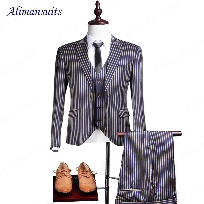 Popular Mens Pinstripe Suits-Buy Cheap Mens Pinstripe Suits lots