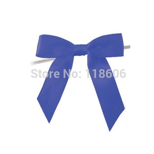 Nuevo 6.3*200cm Bonito Fiesta Navidad Regalo Plata Azul Cinta del Grosgrain