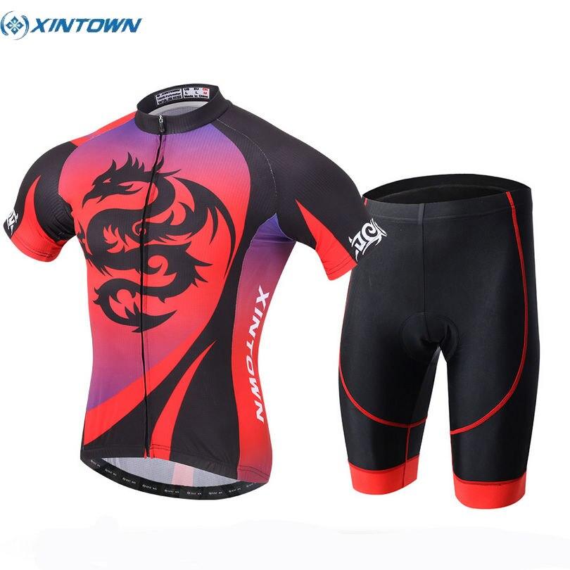 2017 XINTOWN Racing Team Mens Ropa Ciclismo Breathable Cycling Clothing Bike Short Sleeve Bicycle Jersey Bib Shorts Sets Red смеситель cezares lord для биде с донным клапаном lord bs2 01