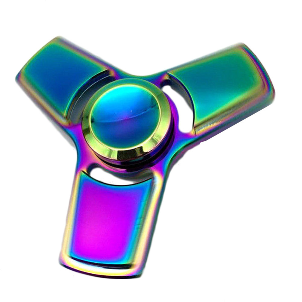 Colorful Creative Funny Metal EDC Hand Spinner Tri Spinner Bearing Fidget Finger Kids Adult Focus Toy