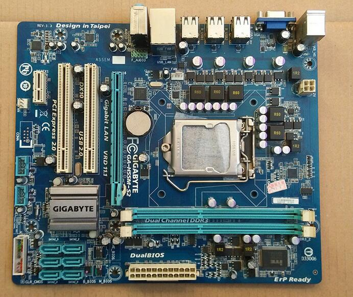 Free shipping 100% original desktop motherboard for Gigabyte GA-H55M-S2 DDR3 / 1156-pin H55M power all-solid support I3 I5 I7 100% new desktop motherboard 945gc f fully integrated network support core celeron 775 pin motherboard ddr2 free shipping