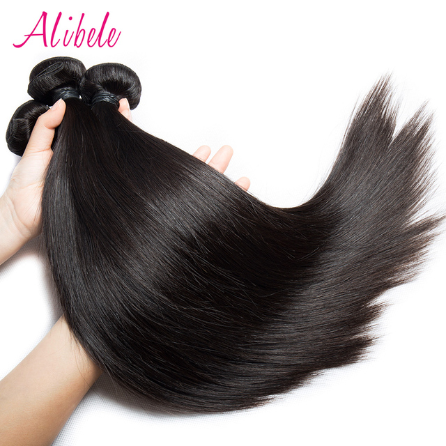 Alibele Indian Straight Hair 1 Or 4 Bundle Indian Human Hair Weave