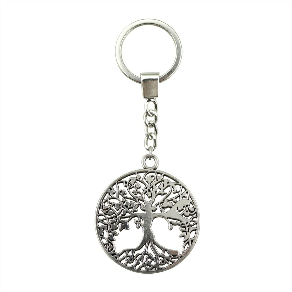 WYSIWYG 40x35mm Tree Of Life KeyChain, Fashion Handmade Keychain Party Gift Vintage Jewelry Dropshipping 2018 New Arrivals