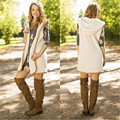 Autumn Winter Woman Clothing Women Vest Sleeveless Zipper Warm Open Front Vest Long Tunic Top Shawl Collar Draped Hooded S-XXXL