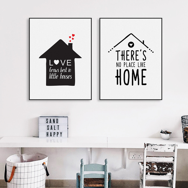 Nordic Minimalist Typography Love Quotes Art Print Poster Nursery Wall Picture Canvas Painting No Frame Living Room Home Decor