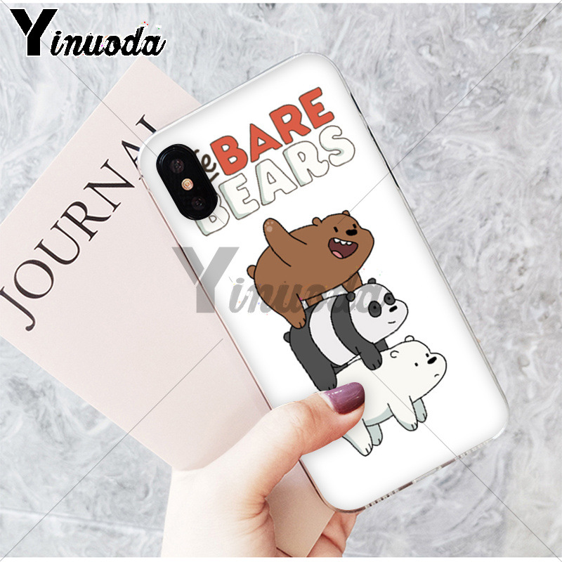 Phone Bags & Cases Yinuoda We Bare Bears Lovely Cartoon Novelty Fundas Phone Case Cover For Iphone X Xs Max 6 6s 7 7plus 8 8plus 5 5s Se Xr High Quality Materials