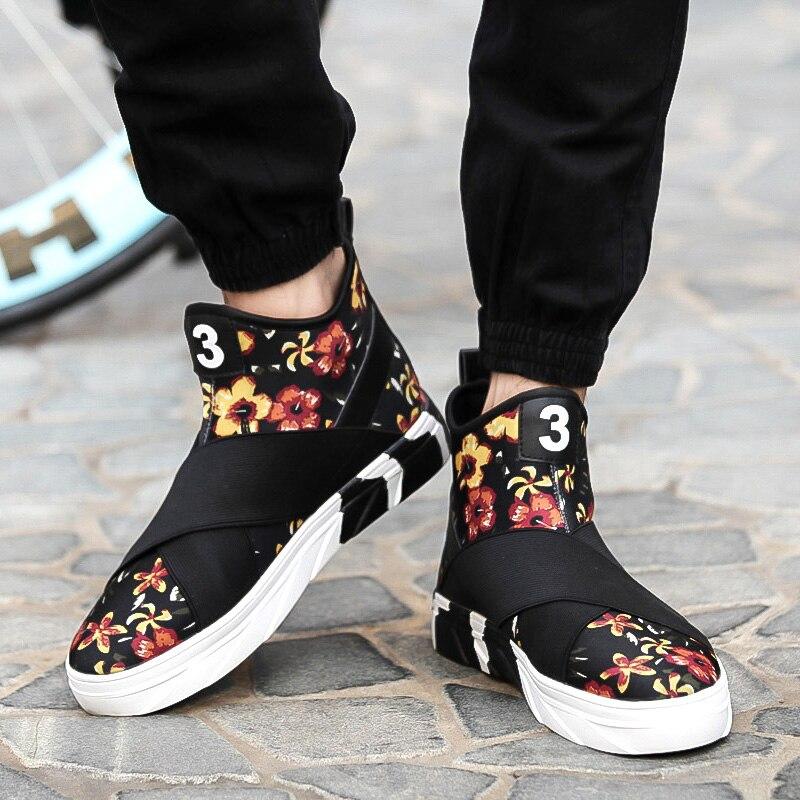 3e9729dc2 Tenis Masculino nuevo 2016 otoño invierno zapatos para hombre zapatos  casuales lienzo moda High Top calzado de calidad plana zapatos de hombres  en Calzado ...