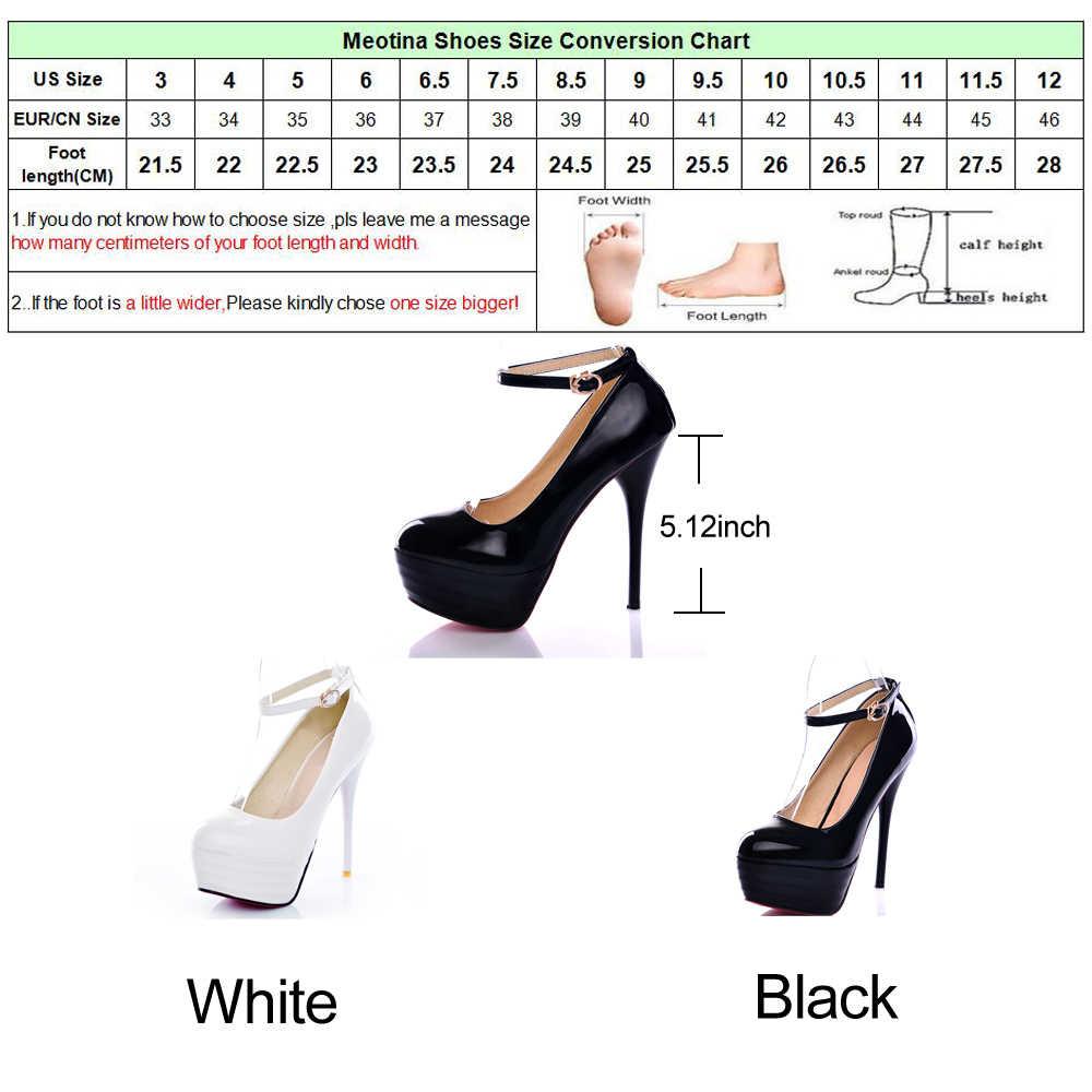 Meotina tacones altos zapatos de mujer blanco zapatos de novia Sexy Ultra altos tacones de noche mujer tacones de plataforma mujeres zapatos grandes tamaño tamaño 42