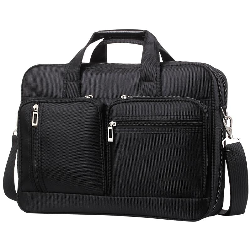 Brand Men 14 15.6 17 Inch Laptop Briefcase Waterproof Oxford Business Handbag For Men Large Capacity Messenger Shoulder Bag