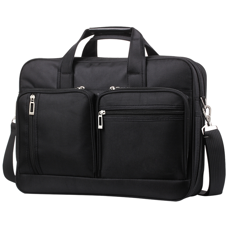Business Men Briefcase Oxford Waterproof Travel Laptop Messenger Shoulder Handbag Large Multifunction Pocket Computer Bag