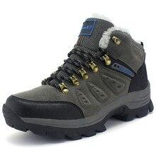 2016 Women Shoes Men Outdoor Trekking Snow shoes Winter Warm Brand non-slip Climbing walking Waterproof casual shoes Size 36-47
