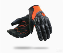 Leather Motorcycle Gloves Moto Breathable Motocross Gloves Men Women Motorbike Riding Full Finger Touch Screen Gloves
