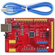 Uno r3 air «(ch340) placa de desenvolvimento com cabo usb para arduino uno r3, plugue fácil tft lcd/ds1307 rtc/tf cartão módulo do módulo