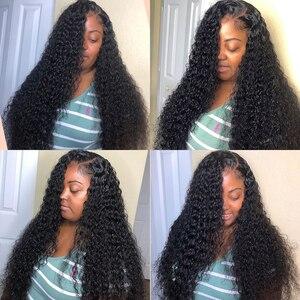 Image 2 - Cheveux brésiliens bouclés 100% vague deau 3 4 paquets armure et fermeture de dentelle 8 28 30 40 pouces paquets profonds de vague avec la fermeture