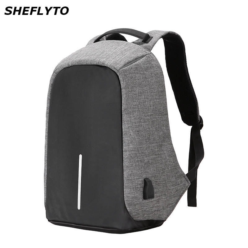 Casual USB Charging Oxford Backpacks Men Anti Theft Waterproof Laptop Backpack For Teenagers Male Travel Bag Computer School Bag usb charging backpacks casual travel men laptop backpack anti theft bags male gray daypack male mochila school bag
