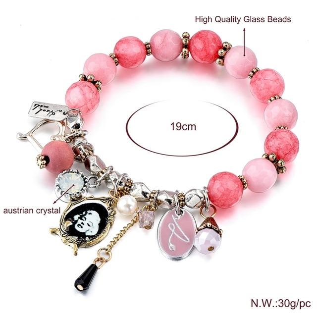chicvie розовые браслеты ручной работы и с подвесками для женщин фотография
