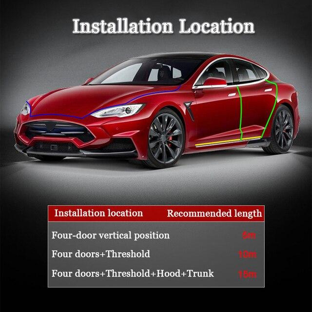 Estilo do carro 1 m interior do carro molduras porta protetor de risco borda guarda capa barra acidente anti colisão adesivo tira acessórios