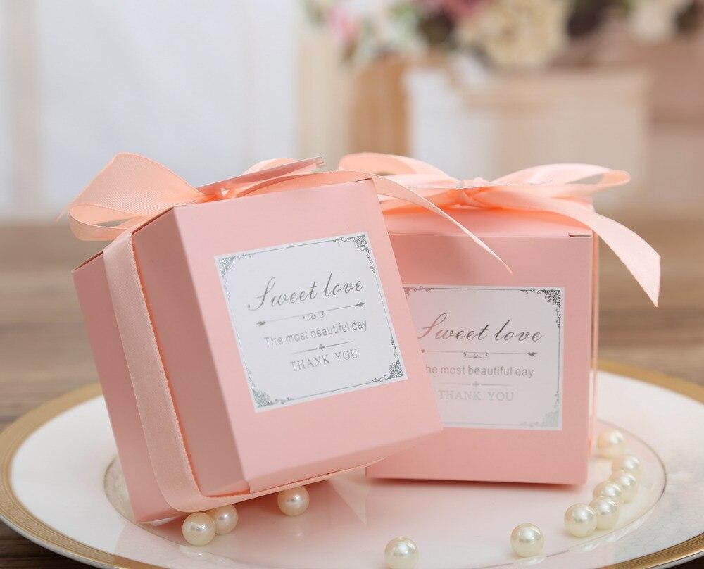 Free shipping,50pcs/lot, Pink Laser Design Candy Box, Wedding Gift ...