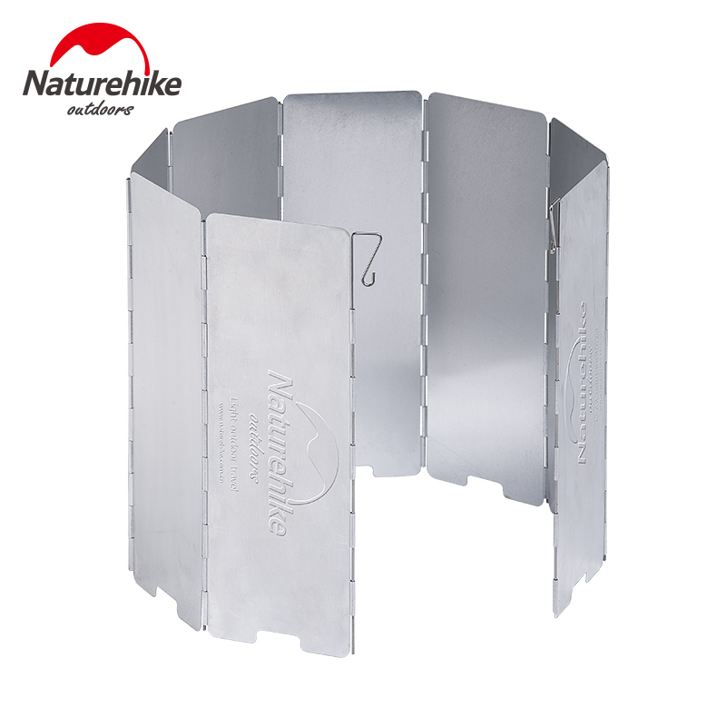 Naturhike 8 Plates aluminum folding Wind Shield Screen for outdoor camping gas stove