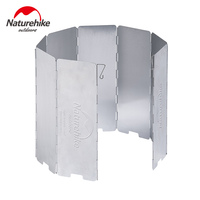 Naturhike Ultralight Outdoor 8 Plates Foldable Wind Shield For Camping Stoves Cooker NH15F008 B