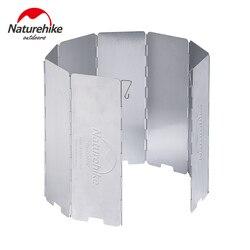Naturhike Ultralight Outdoor 8 płyt składana osłona przeciwwiatrowa do kuchenki turystyczne kuchenka NH15F008-B
